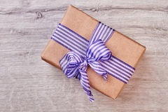 Wrapped gift box with bow. Stock Photography