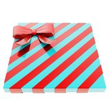 Wrapped gift box with a bow and ribbon Royalty Free Stock Image