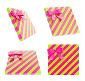 Wrapped gift box with a bow and ribbon Royalty Free Stock Photo