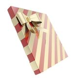 Wrapped gift box with a bow and ribbon Stock Image