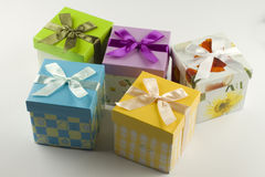 Wrapped gift box present. Gift boxes to give as presents Stock Photography