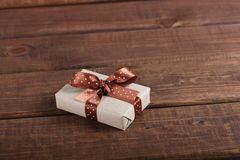 Wrapped gift box Royalty Free Stock Image