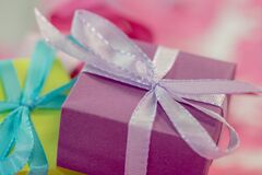 Wrapped gift boxes Royalty Free Stock Photography