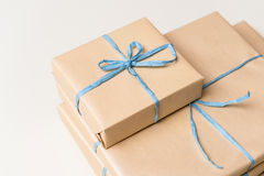 Wrapped gift boxes presents for chirstmas anniversary, wedding Stock Photography
