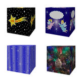 Wrapped gift boxes. Set of four symbols gift isolated objects Stock Image
