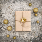 Wrapped gift christmas decoration social media Royalty Free Stock Photography