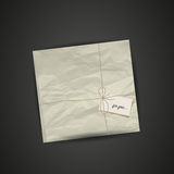 Wrapped gift package Royalty Free Stock Photo