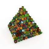 Wrapped Gift Pyramid Stock Photos
