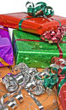 Wrapped gifts Royalty Free Stock Images