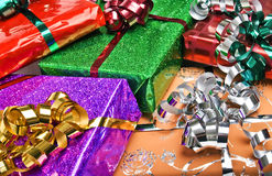 Wrapped gifts Stock Images