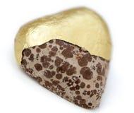 Isolated Heart Shaped Moldy Chocolate Stock Image