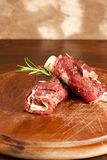 Wrapped meat Royalty Free Stock Images