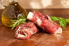 Wrapped meat Stock Photos