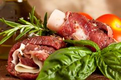 Wrapped meat Stock Images