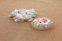 Wrapped and Opened Sweet Candy Stock Images