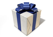 Wrapped Package With Bow Stock Photos