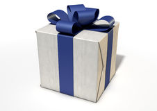 Wrapped Package With Bow Royalty Free Stock Photos