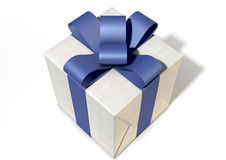 Wrapped Package With Bow Royalty Free Stock Photography