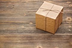 Wrapped packaged box Royalty Free Stock Photos