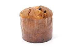 Wrapped panettone Royalty Free Stock Image
