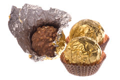 Wrapped Peanut Coated Chocolate Balls Stock Photography