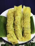 Wrapped pork Omelette. A banana leaf Royalty Free Stock Image