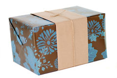 Wrapped present Royalty Free Stock Photography