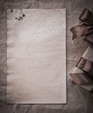 Wrapped present boxes sheet of wrapping paper celebration concep Royalty Free Stock Photos