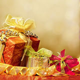 Wrapped present or gifts Stock Image