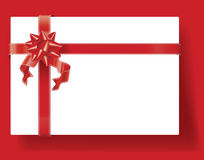 Wrapped Present on Red Stock Photos