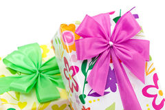 Wrapped presents with bows Royalty Free Stock Photos