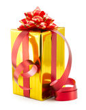Wrapped presents with bows and ribbons Royalty Free Stock Photo