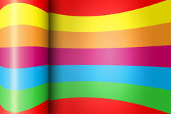 Wrapped Rainbow Paper Background With Shine Stock Photos