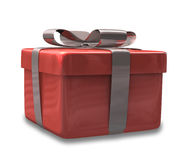Wrapped red gift 3D v2 Royalty Free Stock Image