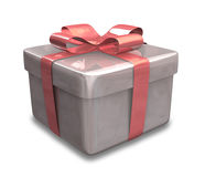 Wrapped red gift 3D v3 Royalty Free Stock Photos