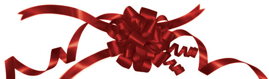 Wrapped Red Ribbon Royalty Free Stock Images