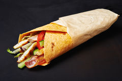 Free Wrapped Sandwich With Chicken Stock Photo - 82001650