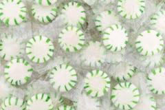 Wrapped spearmint starlight mints Stock Photo