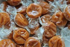 Wrapped toffee caramel Royalty Free Stock Photos