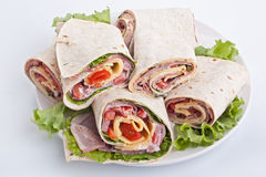 Wrapped Tortilla Rolls Royalty Free Stock Image