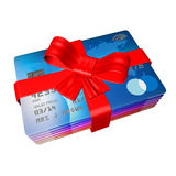 Wrapped up credit cards as a gift Stock Photography