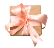 Wrapped vintage gift box Royalty Free Stock Image