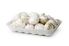 Wrapped White Button Mushrooms Royalty Free Stock Photo