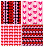 Wrappers with hearts pattern Royalty Free Stock Image