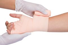Wrapping bandage Royalty Free Stock Images