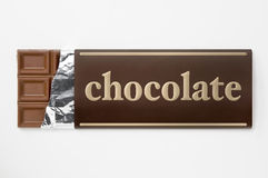 Wrapping of chocolate aluminum foil and paper Royalty Free Stock Photo