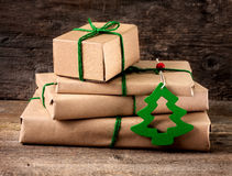 Wrapping Christmas presents Stock Photography