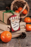 Wrapping Christmas presents Royalty Free Stock Photography
