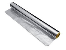 Wrapping food foil Royalty Free Stock Photos