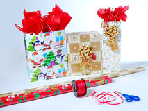 Wrapping Gifts Stock Photos